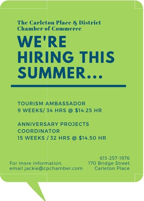 Job Opportunities – Summer 2019
